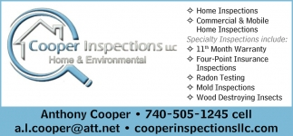 Home Inspections, Commercial & Mobile Home Inspections