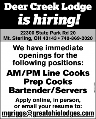 AM/PM Line Cooks