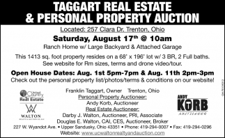 Taggart Real Estate & Personal Property Auction