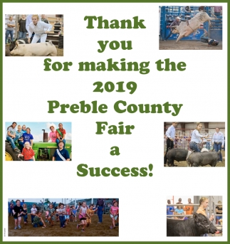 Thank you for making the 2019 Preble County Fair a Success!