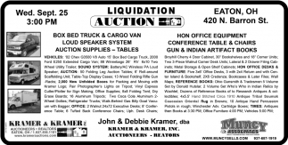 Liquidation Auction - Sept. 25