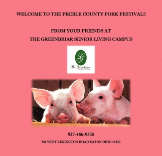 Welcome to The Preble County Pork Festival!
