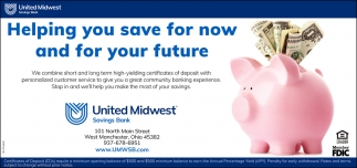 Helping you save for now and for your future