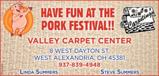 Have fun at the Pork Festival!