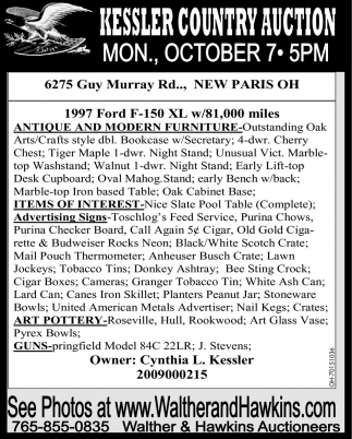 Kessler Country Auction - October 7