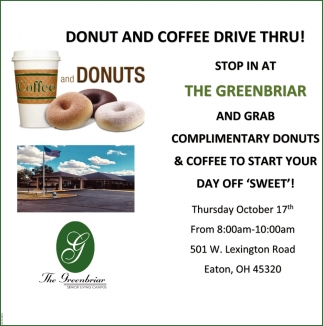 Donut and Coffee Drive Thru!