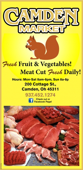 Fresh Fruits & Vegetables! Meat Cut Fresh Daily!