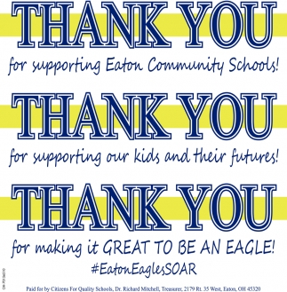 Thank you for supporting Eaton Community Schools!