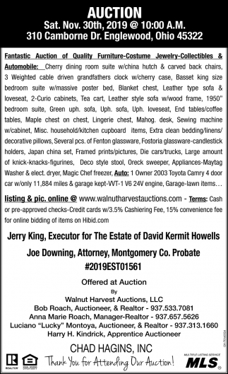 Auction - Nov. 30th