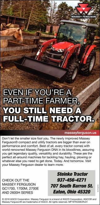 Even if you're a part-time farmer, You still need a full-time tractor