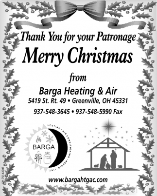 Thank You for your Patronage - Merry Christmas