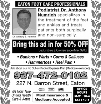 Eaton Foot Care Professionals