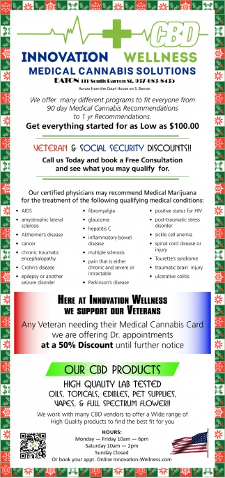 Veteran & Social Security Discounts!