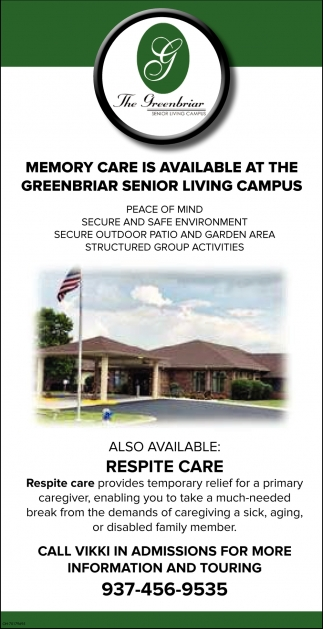 Memory Care is Available