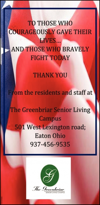 Thank You from the Residents and Staff
