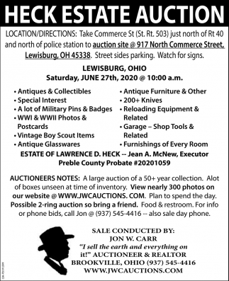 Heck Estate Auction