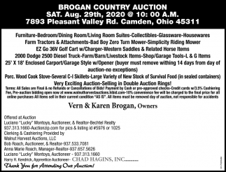 Brogan Country Auction
