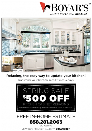 Refacing, the easy way to update your kitchen!, Boyar's ...