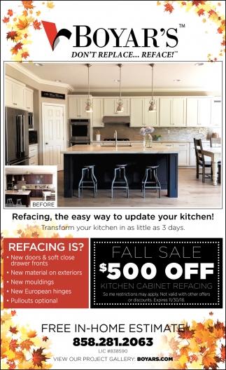 Fall Sale 500 Off Boyar S Kitchen Cabinets San Diego Ca