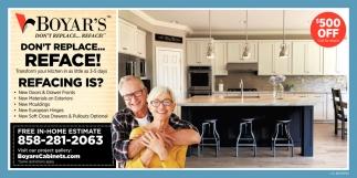 Reface Boyar S Kitchen Cabinets San Diego Ca