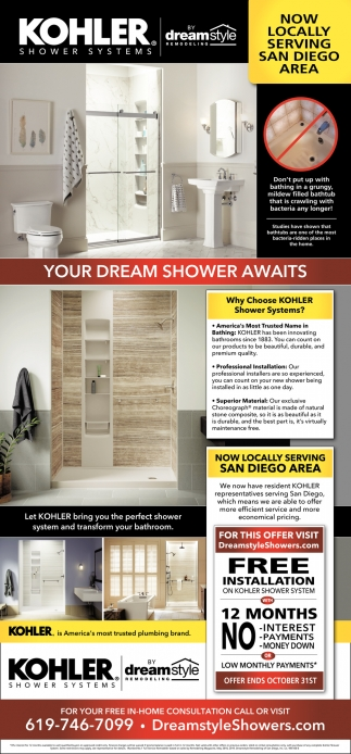 Kohler Shower Systems, Dreamstyle Remodeling, Albuquerque, NM