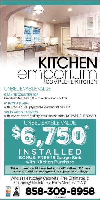 Complete Kitchen Kitchen Emporium San Diego Ca