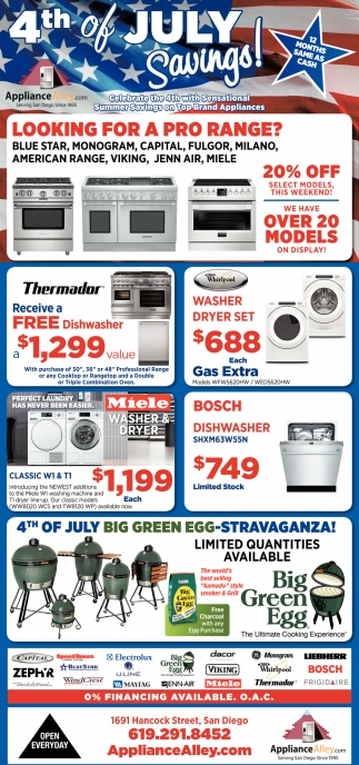 4th of July Savings!