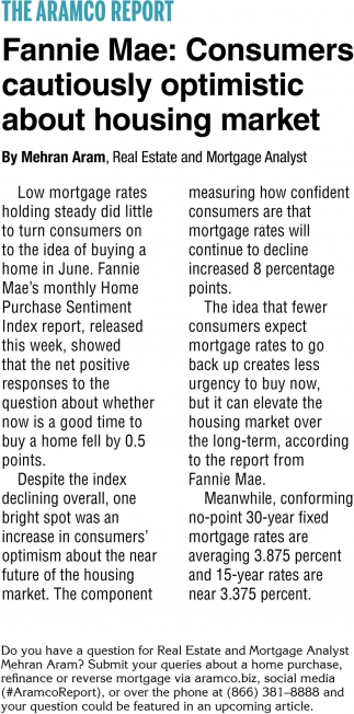 Fannie Mae: Consumers Cautiously Optimistic About Housing Market
