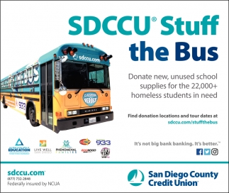 SDCCU Stuff the Bus