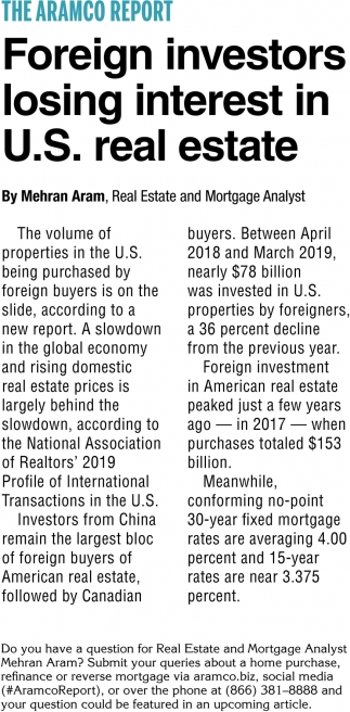 Foreign Investors Losing Interest in U.S. Real Estate