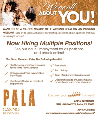 Now Hiring Multiple Positions