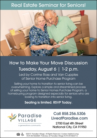 Real Estate Seminar for Seniors
