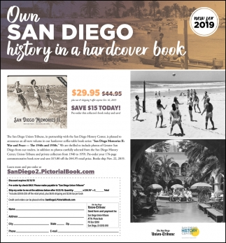San Diego History in a Hardcover Book