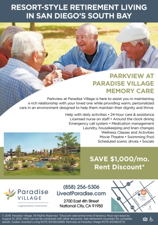 Parkview at Paradise Village Memory Care