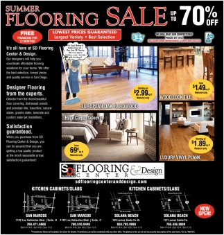 Summer Flooring Sale Up to 70% OFF