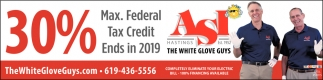 30% Max Federal Tax Credit Ends in 2019