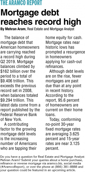 Mortgage Debt Reaches Record High