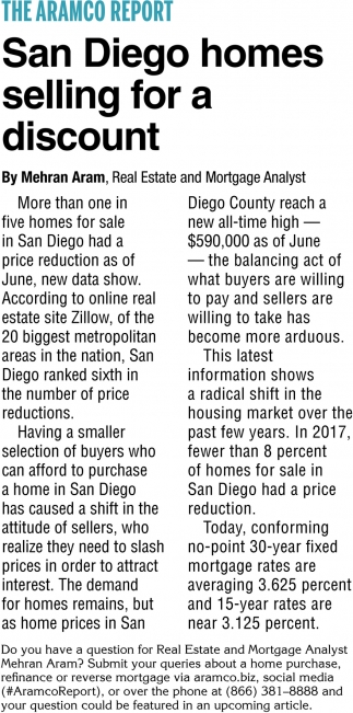 San Diego Homes Selling for a Discount