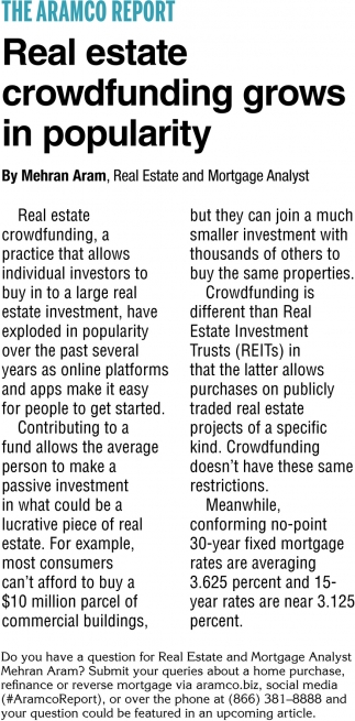 Real Estate Crowfunding Grows in Popularity