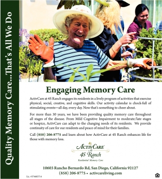 Engaging Memory Care