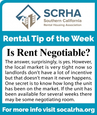 Rental Tip of the Week