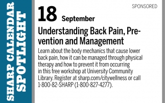 Understanding Back Pain, Prevention and Management