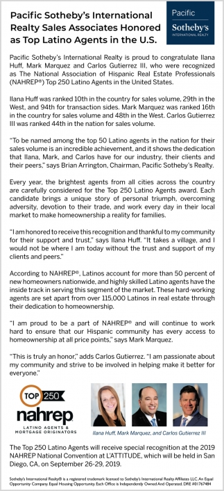 Top Latino Agents in the U.S.