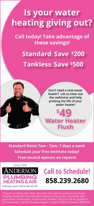 $49 Water Heater Flush