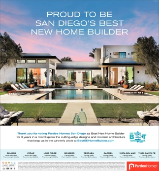 San Diego's Best New Home Builder
