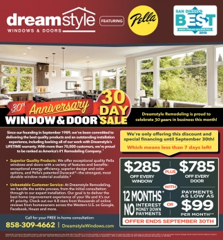 Window & Door 30 Day Sale