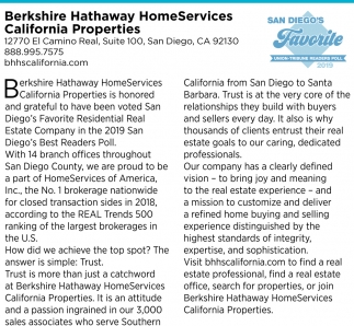 San Diego's Favorite Residential Rental Real Estate Company