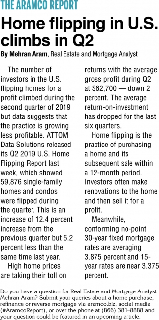 Home Flipping in U.S. Climbs in Q2