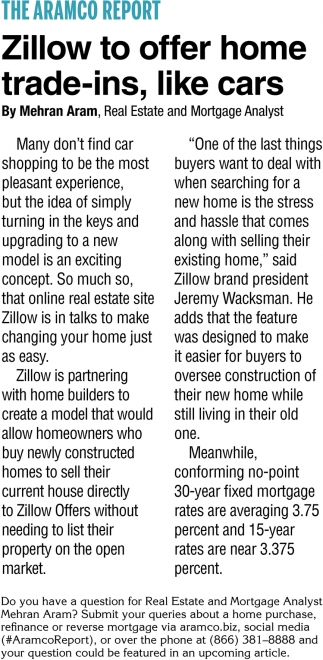 Zillow to Offer Home Trade-Ins