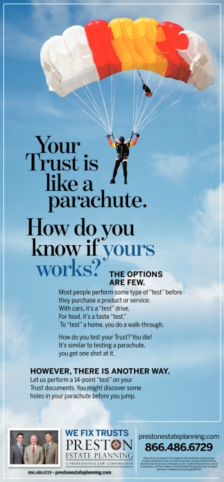 Trust is Like a Parachute
